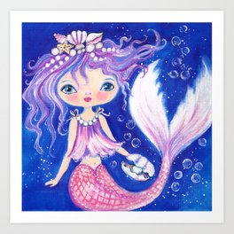 Mermaid Adella Art Print