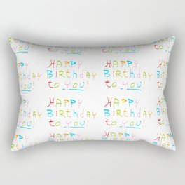 Happy birthday 1-Happy birthday, birthday,greeting,candle,birth date, anniversary Rectangular Pillow