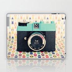 Blue Diana Mini Camera - Retro Vintage Photography Laptop & iPad Skin