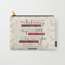 """""""Hope in the Lord"""" Hand-Lettered Bible Verse Carry-All Pouch"""