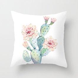 The Prettiest Cactus Throw Pillow