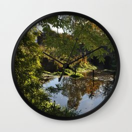 River by the mill  Wall Clock