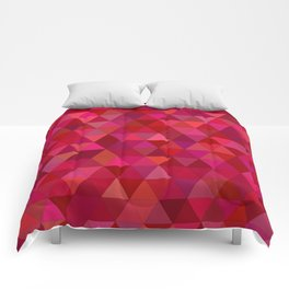Pink Triangles Comforters