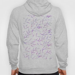 Botanical colorful pink lilac watercolor floral pattern Hoody