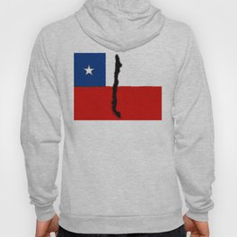 Chilean Flag with Map of Chile Hoody