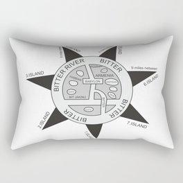 Oldest map of the world called the Babylonian #society6 #decor #buyart #artprint Rectangular Pillow