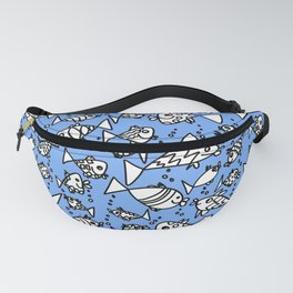 Happy fish with blue Fanny Pack
