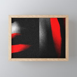 ...so wild for your strawberry mouth Framed Mini Art Print