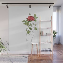Flower in the Hand Wall Mural