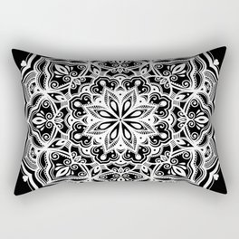 Black Heart Mandala Rectangular Pillow