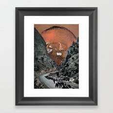 Hot On The Trail Framed Art Print