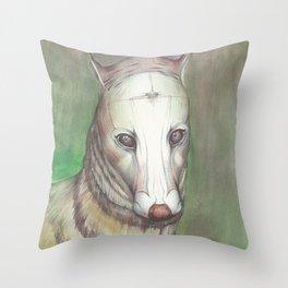 Focused Sen  Throw Pillow