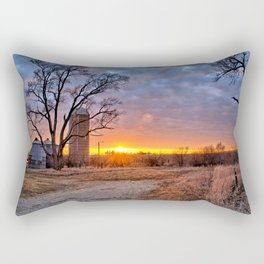 Grain Bin Sunset 3 Rectangular Pillow