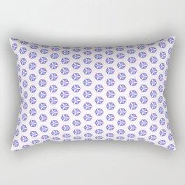 Hexagon Flowers 01 Rectangular Pillow