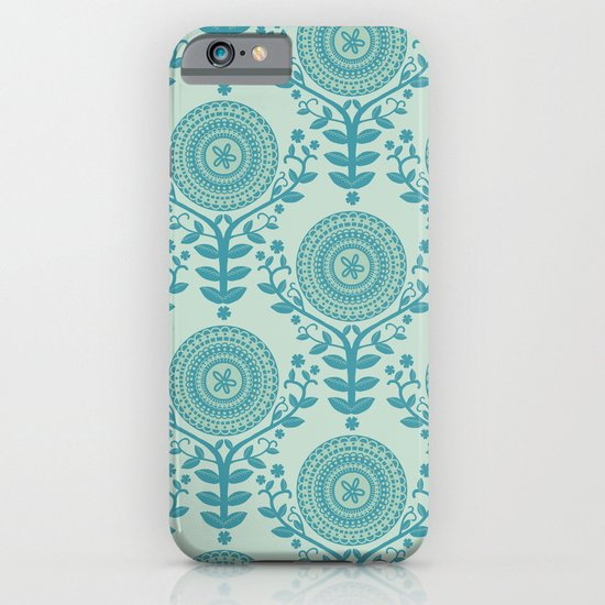 Paper Doily (BLUE) iPhone & iPod Case