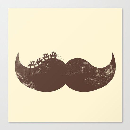 Mustache Ride Canvas Print