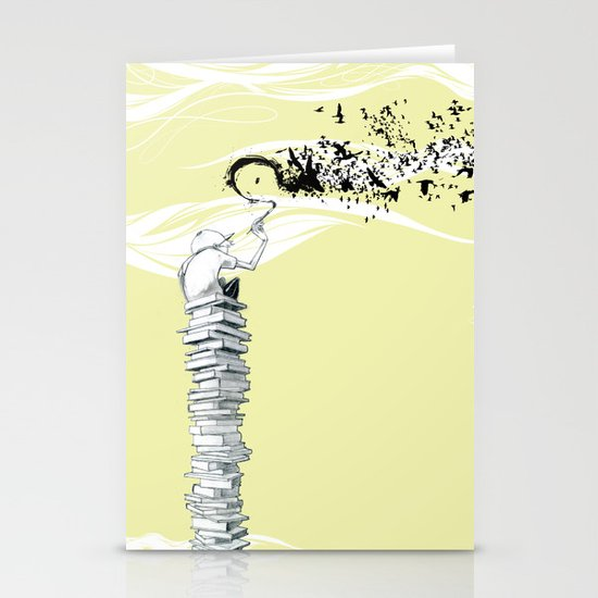 """Glue Network Print Series """"Education & Arts"""" Stationery Cards"""
