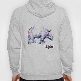 Rhino Glitch | Digital Art Hoody