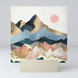 Golden Peaks Mini Art Print