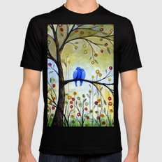 Garden for Two Black Mens Fitted Tee MEDIUM