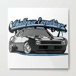 Label muscle car legend of America. Metal Print