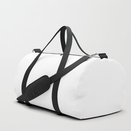 White Minimalist Duffle Bag