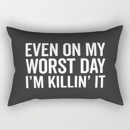 Worst Day Killin' It Gym Quote Rectangular Pillow