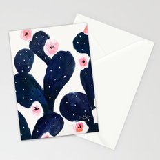 Cactus Bloom Midnight Stationery Cards