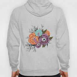 Flowers With Eyes | Halloween Flower With Tongue Hoody
