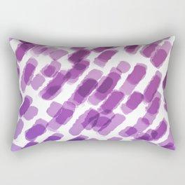 Purple Watercolor Brush Strokes Abdtraction Rectangular Pillow