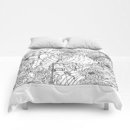 #2 Pencil Doodle (coloring page art) Comforters