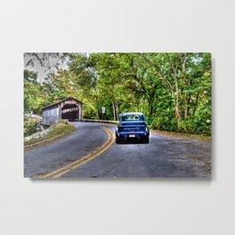 Truck & Bridge Metal Print