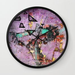Dysfunction (oil on canvas) Wall Clock
