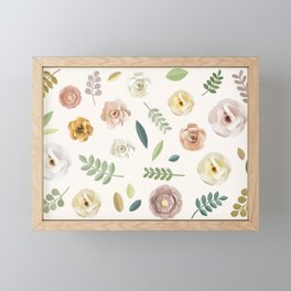 Floral Illustration Framed Mini Art Print