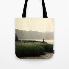 Rain on a summer day on Long Island Tote Bag