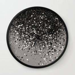 Silver Gray Glitter #1 #shiny #decor #art #society6 Wall Clock