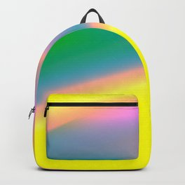 pink green blue yellow texture design Backpack