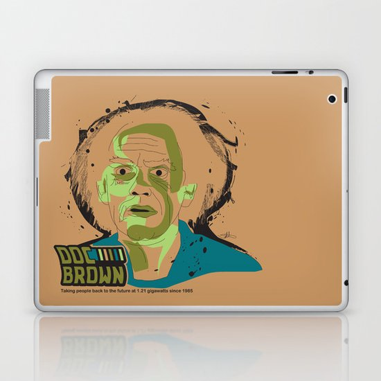 Doc Brown_INK - Back to the Future Laptop & iPad Skin