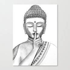 Shh... Do not disturb - Buddha Canvas Print