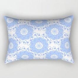Violet Circle Flower Patch Pattern Rectangular Pillow