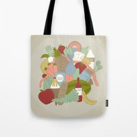 food Tote Bags featuring FOOD by Nora