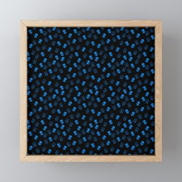 Aliens-Blue Framed Mini Art Print