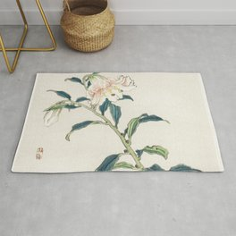 Lily by Kōno Bairei Rug