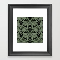 Grass Type Damask Framed Art Print