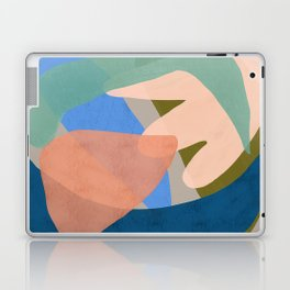 Shapes and Layers no.30 - Large Organic Shapes Blue Pink Green Gray Laptop & iPad Skin
