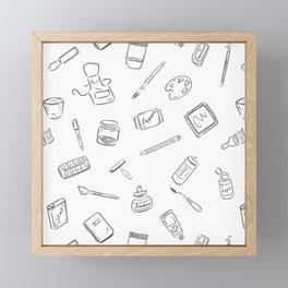 Art Supplies Inspiration Framed Mini Art Print