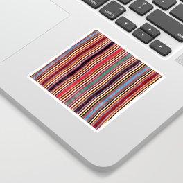 Qashqa'i Antique Fars Southwest Persia Striped Kilim Print Sticker