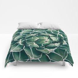 Succulent bloom II Comforters