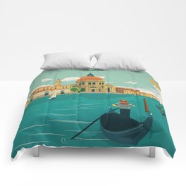 Vintage poster - Venice Comforters