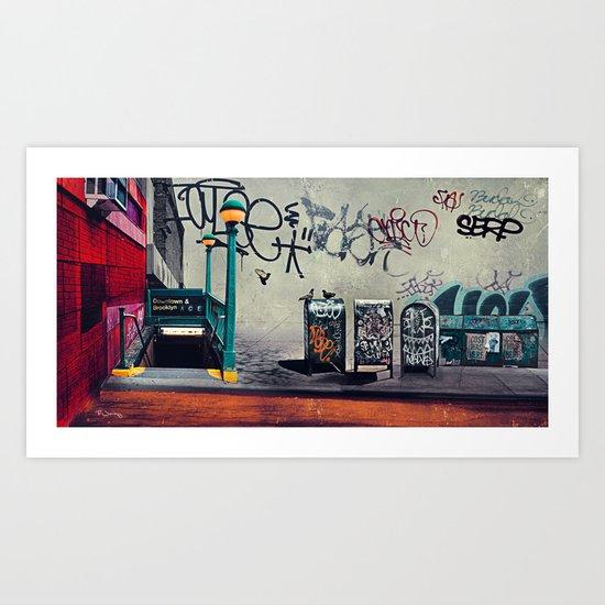 The New York Underground Art Print